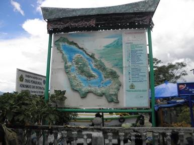Peta Danau Toba dan Pulau Samosir